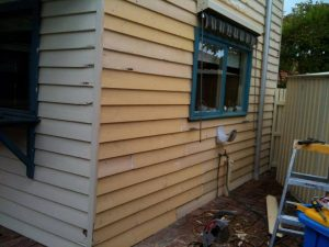 weather board painting services thornbury before